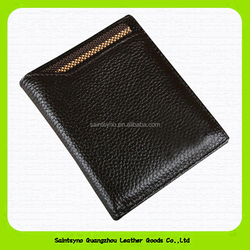 Highest quality leather thin leather wallet mens leather checkbook wallet