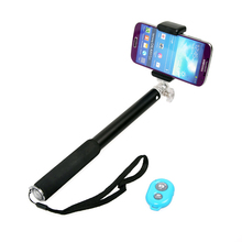 alibaba china supplier Aluminum Alloy monopod selfie stick with bluetooth remote shutter
