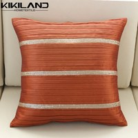 rust pleated sofa pillows sequin lace cushion covers