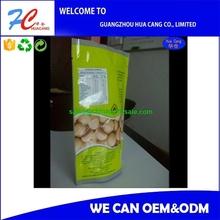 2015custom food packing plastic bag food vacuum sealer pop up product