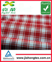100 cotton fabric in check oxford