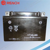 Cheap Price 12V 9AH MF Motorcycle battery YTX9L-BS Made in China