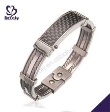 diseño liso táctiles de cuero con comodidad ajuste pulseras artesanales de cuero