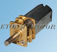 Mini motor de corriente continua de engranajes se puede hacer a M3 o M4 eje de rosca de tornillo