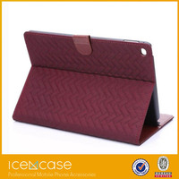 New classical Scottish tartan case luxury leather flip wallet case for iPad air2