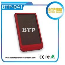 2015 Hottest Products!!BTP-041 2600mAh Slim Power Bank USB Solar Batterie De Secours