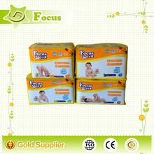 High absorption soft surface and two colors printed PE back sheet disposable sleepy baby diapers