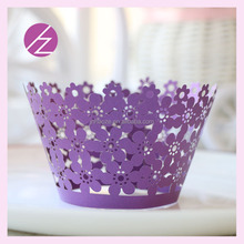 2015 new arrival cown cupcake wrapper laser cut cupcake wrapper DG17