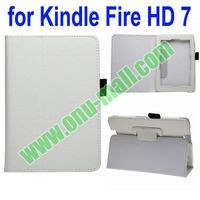 Leather Cover Case for Kindle Fire HD 7 with Holder