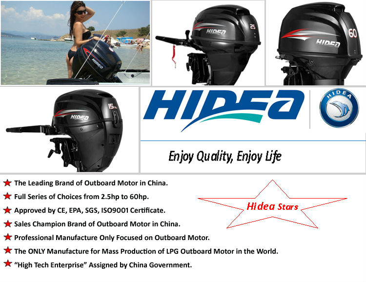 Hidea 4 stroke 15hp outboard motor with remote control for Trolling motor remote control