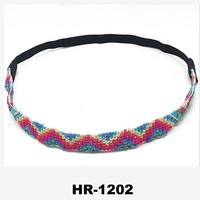 Hot sell 2015 new fashion hair accessories woman hand-woven glass hair band/headband with new design for lady wholesale