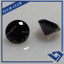 Round cutting black CZ loose bulk cubic zirconia gemstones