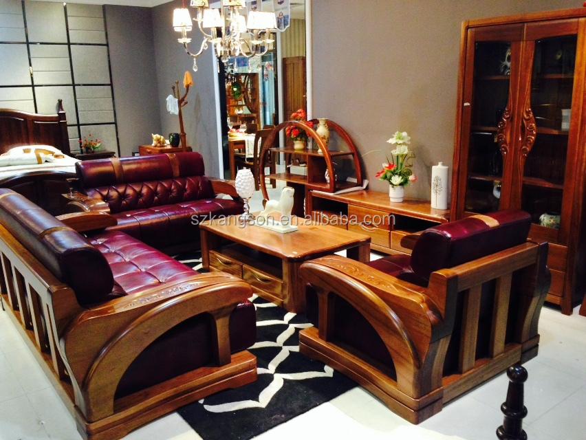 Modern teak wood sofa set designs home Latest wooden sofa set designs