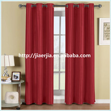 100% Black out window curtain,red color grommet blackout curtain