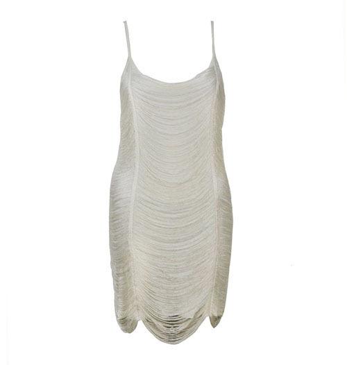 correas elásticas de borla vestido sexy arnés vestido corto