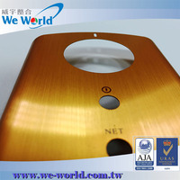 Protecting hairline finish surface anodized aluminum mobile covers