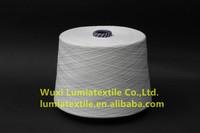 white highlight luminous polyester staple fibre for hat/gloves glow in the dark