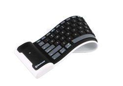 Flexible wireless bluetooth keyboard for ipad iphone and mobile phone