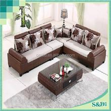 S.D 2015 new luxury living room furniture,modern rattan sectional safa