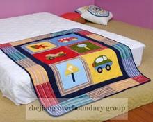 Twin patchwork & embroidery Car design children quilt