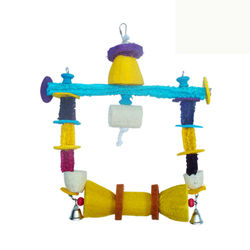 wooden bird toy for birds with hook &grass bird toy with hook LB075