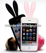 Litter rabbit silicon case for Iphone4G/4S, Cute animal case for apple Iphone