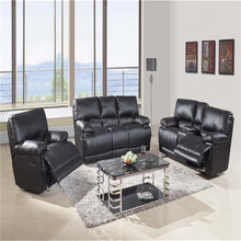 contemporary home furniture italy leather recliner sofa set