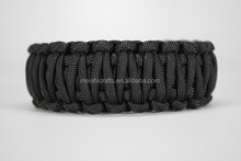 Double layer braided 550 Paracord Survival Bracelet King Cobra Solid Black Camping Military Tactical