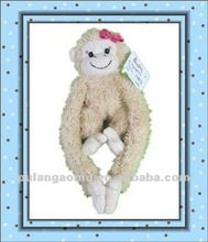 Lovely Girl Monkey Stuffed Toy with Magnet and Long Arms