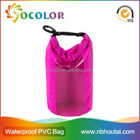 2015 hot sale 500D PVC tarpaulin red inflatable 500d Pvc Tarpaulin Dry Sack Pack Bag Waterproof 30liter for boating