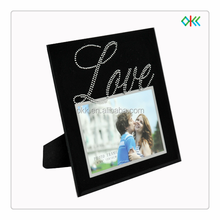 black frame love imprint standing glass picture frame