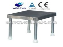 AG-FS006 Hot sales!!! ISO and CE approved 'Anti-skidding and good weight load' 304 stainless steel hospital bed foot stool