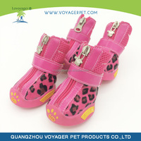 Lovoyager Hot Selling 2014 New Pet Dog Products PU Boots with Dog Pawa Print for wholesales