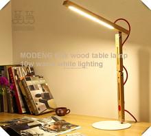Lámpara de escritorio <span class=keywords><strong>artística</strong></span> antiguo de madera clara llevó la lámpara flexible, lámpara llevada de madera