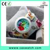 New trendy floral print dial lady watch, elegant gorgeous bracelet lady watch, Fabric ribbon band women watch