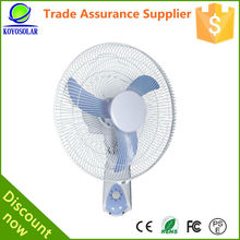 Latest model energy-saving 12v dc solar wall fan/wall mounted fan/industrial wall fan with battery