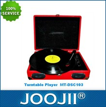 Cheap Portable Easy operation Suitcase Turntable Player with USB