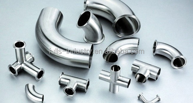 L stainless steel clamp connection y branch pipe