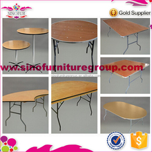 Brand new Qingdao Sinofur wooden outdoor folding cocktail dining table for event