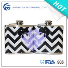 zeal 6oz stainless steel best friend hip flask HF3006