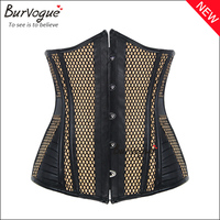 New arrival corset top lady supply breathable leather corset steel boned waist training corsets cheap hot sale