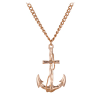 Gold Anchor Pendant Necklace N7-7942A-2700