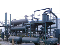 Used recycling plastic tyre and rubber waste pyrolysis plant to fuel oil for sale with high oil output