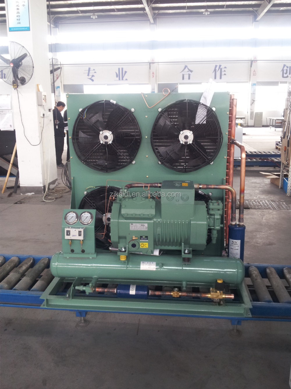 Open Type condensing unit with Bitzer semi-hermetic piston compressor 4PES-15 for cold room
