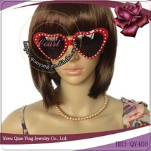 fashion red heart shaped dance party cheaters glasses