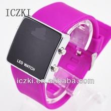 e2027 chino mecánica de silicona led reloj