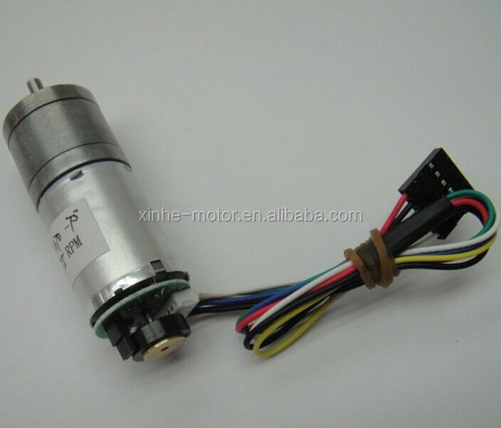 Gm370 25mm 6v 12v dc gear motor reversible with 48cpr for Best dc motors for robots