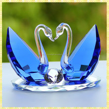 Exquisite Blue Crystal Swan Wedding Gifts For Indian Couple Marriage Souvenirs