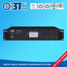 IP based PA System 150w network amplifier , RJ45 interface IP Audio PA Amplifier