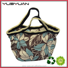 2015 New Product Latest Design High Quality Friendly Fashion Colorful Canvas Lunch Tote Bag For Adult